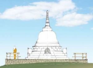 The Vimutti Stupa